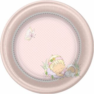 precious moments baby girl baby shower paper dinner plates