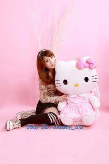 Sanrio Cute Hello Kitty Plush Doll Toy Pink Dress 30H