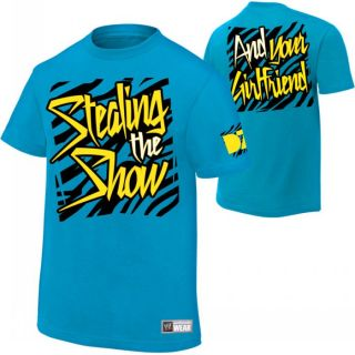Dolph Ziggler Stealing The Show WWE Authentic Blue T Shirt