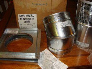 Dura Vent Horizontal Round Termination Kit Direct Vent Pipe