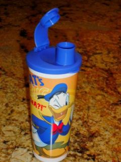 Tupperware Disney Donald Duck 16oz Water Bottle Drink Tumbler Pour