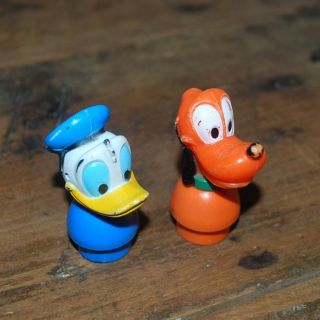 ILCO figures Donald Duck PLUTO FITS VINTAGE FISHER PRICE LITTLE PEOPLE