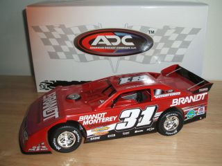 2012 ADC 1/24 diecast Justin Allgaier #31 BRANDT Dirt Late Model