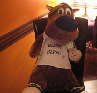 EXTRA LARGE SCOOBY DOO BLING BLING CASH STUFF ANIMAL GANGSTER