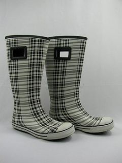 Dirty Laundry Dicey Plaid Rainboots Womens 9 New $36