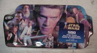 Three Star Wars collectible 500 piece Puzzle in collector tin