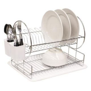 Smart Soultion Space Saver 2 Tier Dish Rack Drainer Tableware