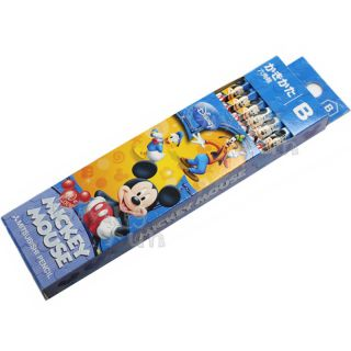 Genuine Disney Mickey Mouse Donald Duck Pluto Kids 12 Pencil Set