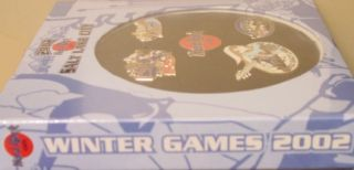 Hard Rock Cafe  2002 Olympics Winter Games 5 Pins Salt Lake City