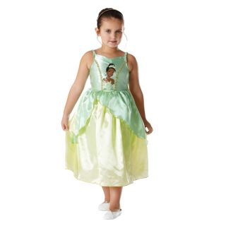 Child Licensed Disney Princess Tiana Fancy Dress Costume Girls Kids
