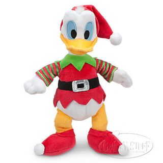 Disney Disney Donald Duck Elf Mini Bean Stuffed Plush Doll Christmas