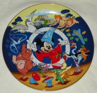 Disney Characters Fantasia Sorcers Apprentice Collector Plate