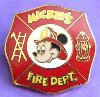 Disney Pin Mickeys Fire Department Walt Disney World Pinpics 111