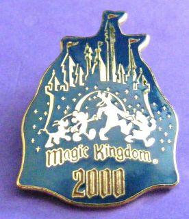 disney collectible pin walt disney world magic kingdom castle 2000