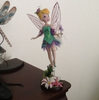 Disney Fairies Tinker Bell Porcelain Doll 2007 Brass Key
