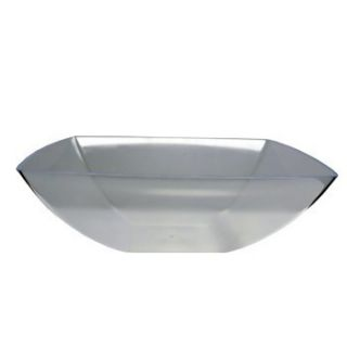 One Gallon 128 Ounce Square Plastic Clear Bowls 6 to A 1 2 Case Free
