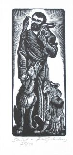 Catholic Worker Fritz Eichenberg Dorothy Day Signed Woodcut