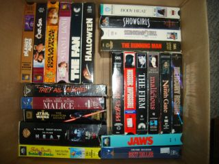 Lot of VHS Tapes Dorothy Stratten, HEAT Arnold S, Willis,Johnny Depp