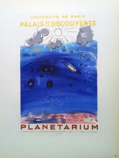 Raoul Dufy   Mourlot Lithograph   Planetarium   Universite De Paris