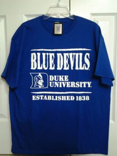 NEW W TAGS DUKE UNIVERSITY BLUE DEVILS ESTABLISHED 1838 BLUE DEVILS