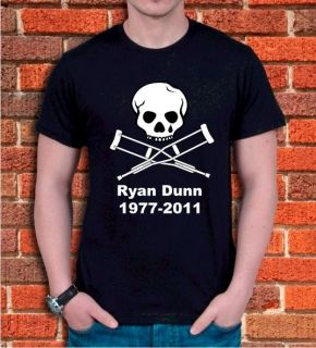 Jackass Ryan Dunn Rip Tribute T Shirt Random Hero s XXL