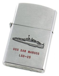 Vintage US Naval USS San Marcos LSD 25 Landing SHIP Lighter