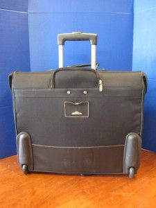 Dockers Wheeled Rolling Suitcase Garment Bag Luggage Black Telescopic