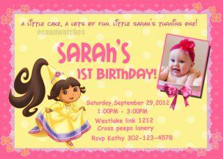 DORA THE EXPLORER BIRTHDAY PARTY INVITATIONS INVITES GIRL