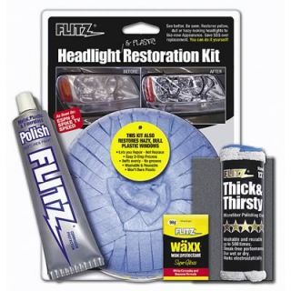 flitz 31501 headlight plastic restoration kit 7 in