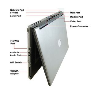 Latitude D820/830 2.0GHz Core Duo 2GB RAMDVD Burner Wifi 15.4 Laptop
