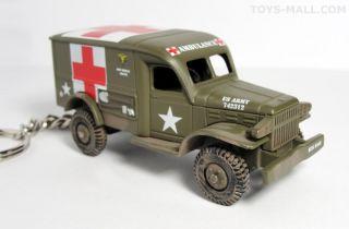 Key Chain Dodge WC54 4x4 Military Ambulance WW2 Mash Army USMC Porte