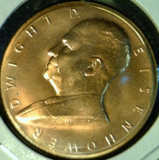 Dwight D IKE Eisenhower US MINT INAUGURATED Commemorative Bronze Medal