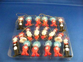 Dr Seuss Cat in The Hat 16 Piece Miniature Ornament Set