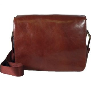 Dr. Koffer Laptop Messenger Bag   Country Lux Leather   Cognac