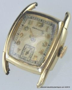 Vtg Hamilton Dodson 17J 987A Mens Wrist Watch 10K Gold Filled Case for
