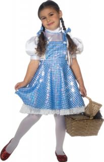 The Wizard of oz Dorothy Deluxe Sequin Dress Child Costume Kids