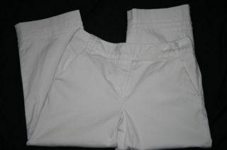 Larry Levine Petite 8P White Crop Capri Pants