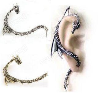 1pcs Personality Vintage Punk Gothic Dragon Wrap Cuff Dangle Earring
