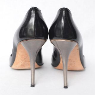 Michael Kors Sexy Black DOrsay Pointed Toe Silver Stiletto High Heels