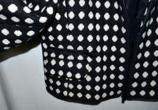 Jones New York Collection Petite Black with White Polka Dots Wool