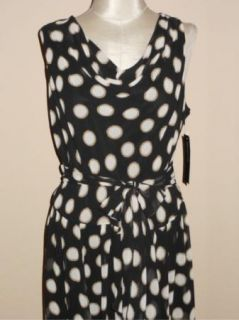 NWT Jones New York Polka Dot Chiffon Cocktail Career Dress 22W