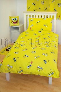 Spongebob Squarepant Face Single Bed Duvet Cover Set MF
