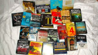 Audiobook LOT 28 Books on CD Mystery Suspense Drama Historical Fiction