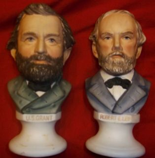 Vintage Robert E Lee US Grant Civil War Collectibles Leftons Figurines