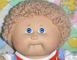 Coleco Original Cabbage Patch Kids Boy Doll Blue Eyes Handyman Clothes