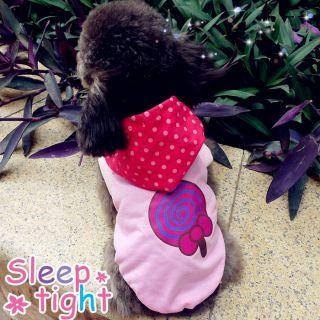 Pet Dog Cat Clothes Lollipop Style Pink Dog Shirt Clothes Apparel Pet