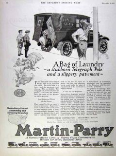 1922 Martin Parry Truck and Truck Bodies Accident Ad
