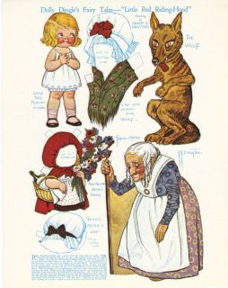 Dolly Dingle Grace Drayton Red Riding Hood Fairy Tale Paper Doll 5