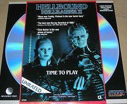 Hellraiser II Laserdisc Clive Barker LD Doug Bradley Pinhead