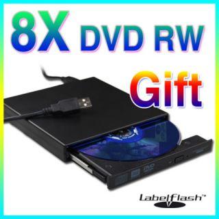 New Slim USB 2 0 External Labelflash DVD Burner Player